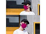 Трехслойная защитная маска многоразовая (неопрен), малиновая, фото 4