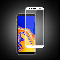 Защитное Full Glue 3D стекло Samsung J4 plus/J6 plus/J415 белое