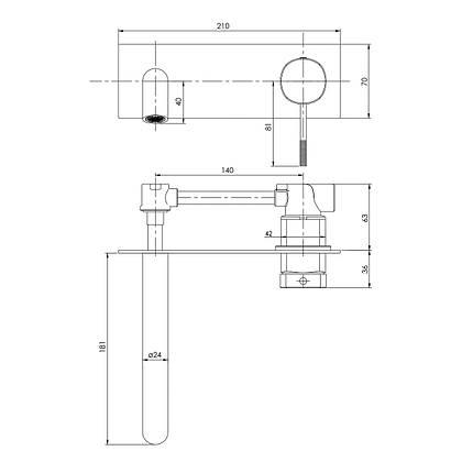 Змішувач для умивальника Imprese Brenta ZMK071901030 хром, фото 2