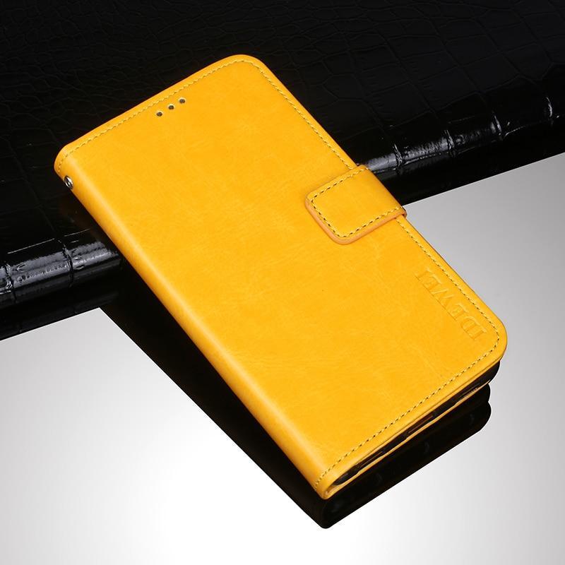 Чохол Idewei для Samsung Galaxy A10s (A107) книжка з візитницею жовтий