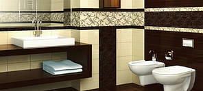 Декор Beryoza Ceramica Джаз коричневий  25х35, фото 2