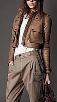 Короткая куртка из нубука, длина 45см, фото 1