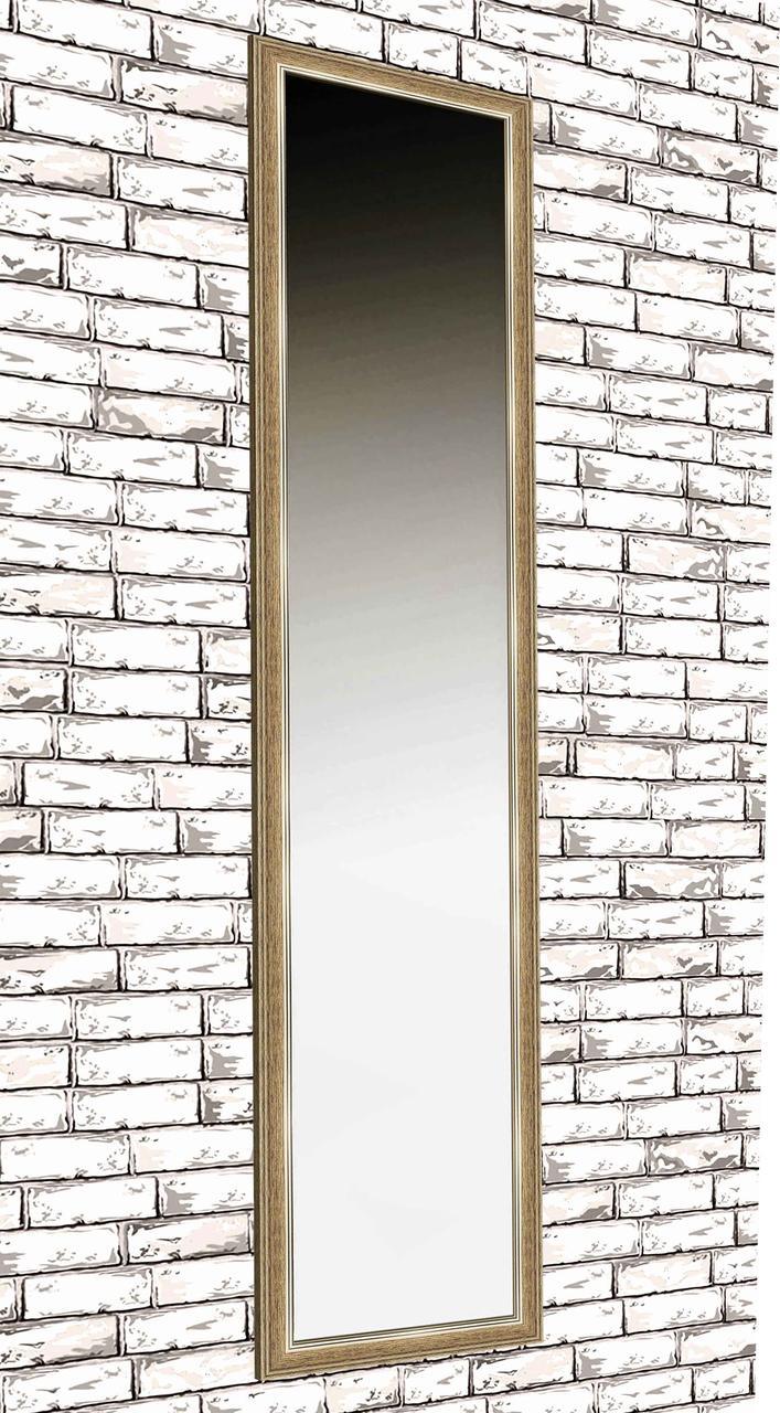 Зеркало настенное в раме Factura Light brown 45х169 см светло-коричневое