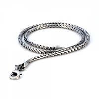 Цепочка глянцевая змейка Bico Serpent 50-55 см 175703
