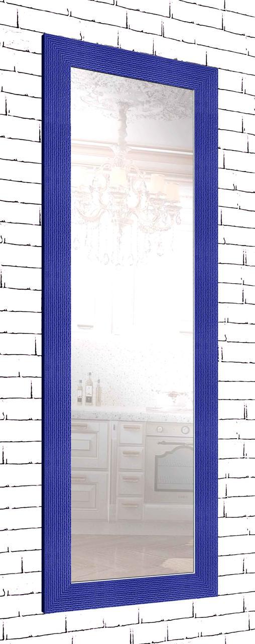 Зеркало настенное в раме Factura Blue cube 60х174 см синий
