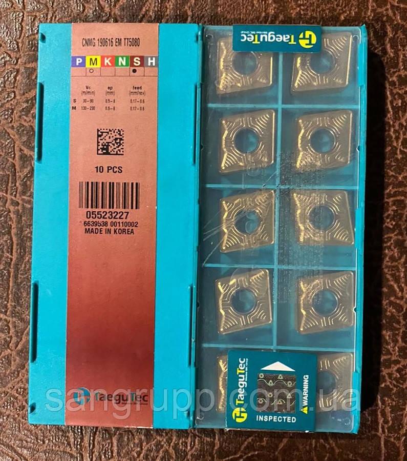 Пластина твердосплавная TAEGUTEC CNMG 190616 EM TT5080