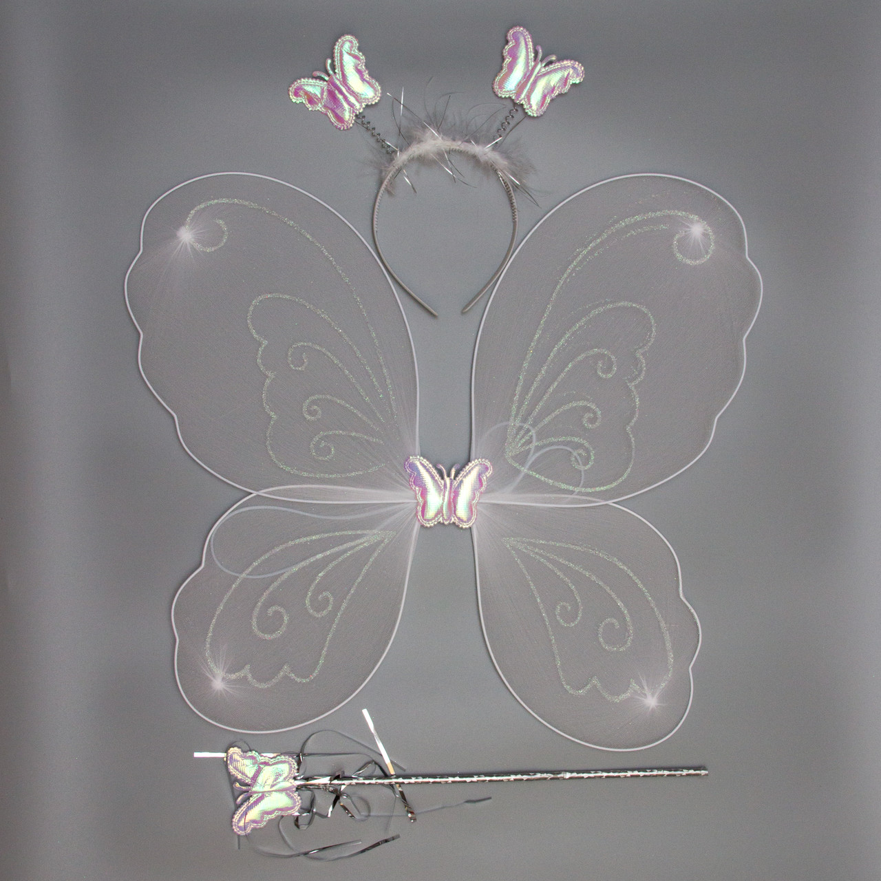 Карнавальный костюм бабочка, белый (HLJ170419-18-5)