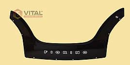 Мухобойка, дефлектор капота Fiat Fiorino 2008 (Vip tuning)