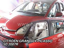 Дефлектори вікон (вітровики) Citroen C4 GRAND PICASSO Mk1 5D 2007-2013 4шт (Heko)