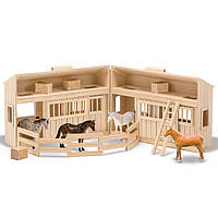 Дерев'яна стайня з кіньми, Melissa&Doug, фото 1