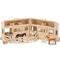 Деревянная конюшня с лошадками, Melissa&Doug