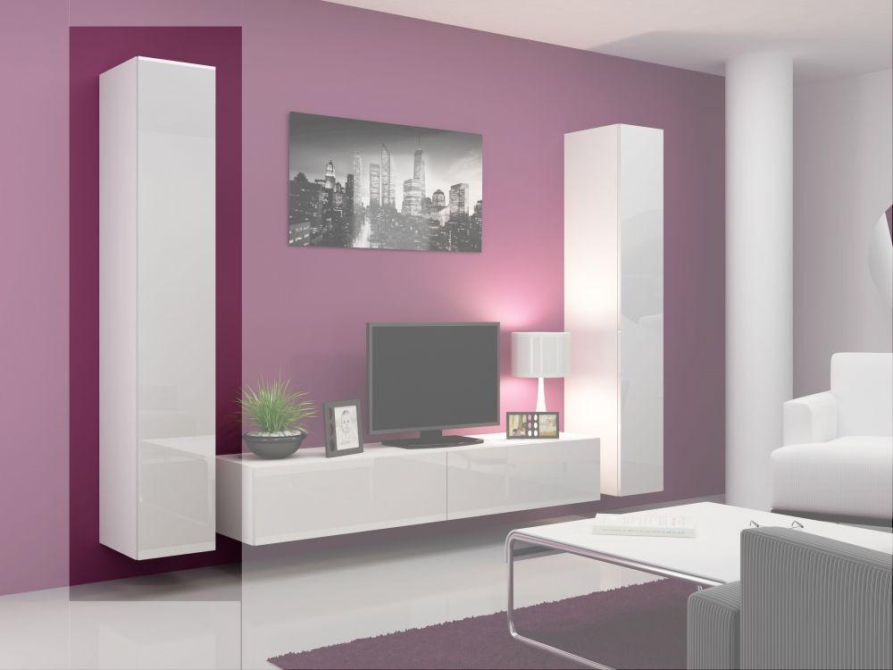 Витрина VIGO 180 цельная (модульная мебель) белый/белый (CAMA)
