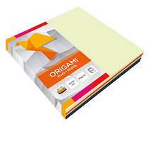 """Блок бумаг для творчества """"Оригами"""" неоновые и пастельные цвета, Interdruk"""
