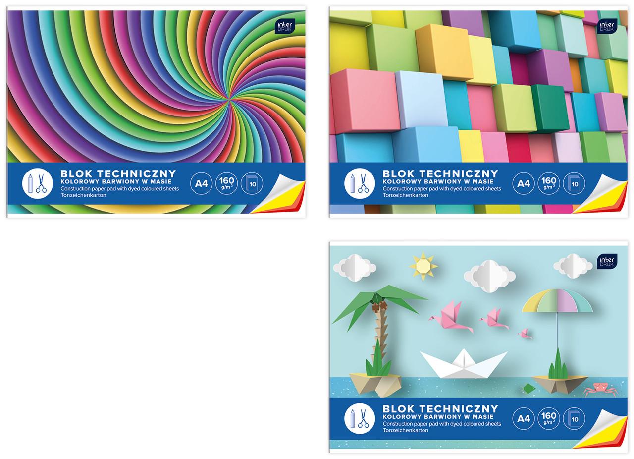 Набор цветного  картона, 10 листов, Interdruk