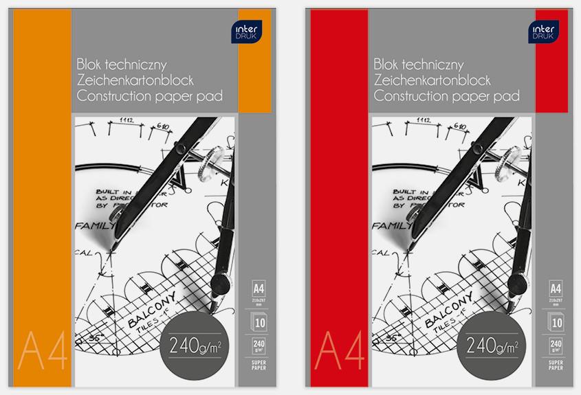 Блок премиум бумаги для черчения А4, Interdruk