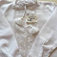 Біла вишита сорочка для хлопчика домоткане полотно на 3-4 роки