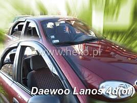 Дефлекторы окон (ветровики)  Deawoo Lanos 4D,5D 4шт  клеющие / накладные (Heko) - РАСПРОДАЖА !!!