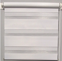Готовая тканевая ролета ДЕНЬ-НОЧЬ Белая 57.5х170см