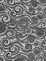 Аквамат в ванную ширина 65 см. Черно-белый.