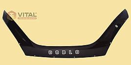 Мухобойка, дефлектор капота Fiat Doblo 2015 (Vip tuning)