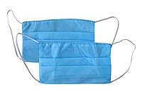 Маска медицинская защитная для лица трехслойная (спандбонд)
