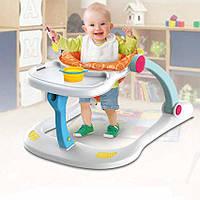 Ходунки-каталка музыкальные со стульчиком для кормления 4в1  Baby Walker № B3