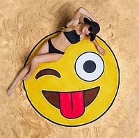Пляжный коврик 3D Смайлик, фото 1