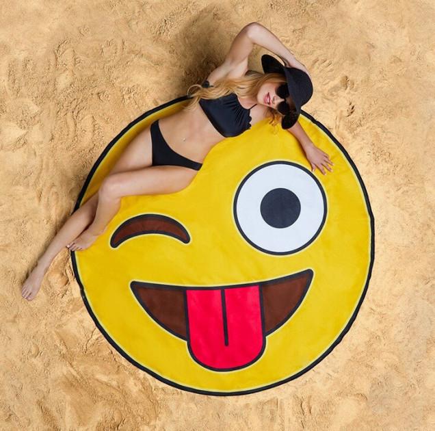 Пляжный коврик 3D Смайлик