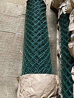 Сетка Рабица металлическая зелёная 50х50, диаметр 3.5мм, высота 1.20м, рулон 10 м