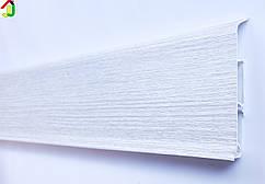 Плінтус Ідеал Система 265 Клен Патина 80мм пластиковий для підлоги, IDEAL високий з м'якими краями