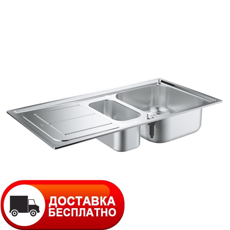 Двойная кухонная мойка Grohe EX Sink 31564SD0 серия K300 97*50