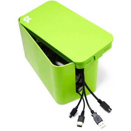 Органайзер для проводів вогнестійкий Cablebox Mini Bluelounge (green), фото 2