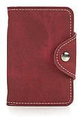 Удобная женская карманная визитница на кнопке APPLE art. Б/Н визитница красный