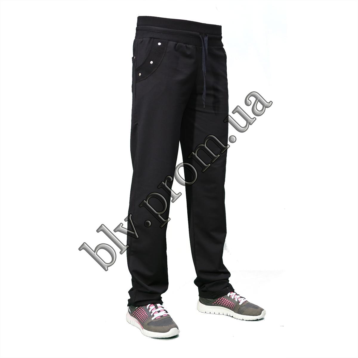 Трикотажные женские брюки пр-во Турция KD294 Dark blue