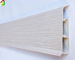 Плінтус Ідеал Система 274 Сосна Північна 80мм пластиковий для підлоги, IDEAL високий з м'якими краями