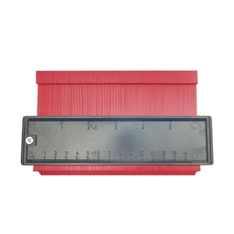 Універсальний вимірювач контуру SUNROZ контурна лінійка 14 см Червоний (5655)