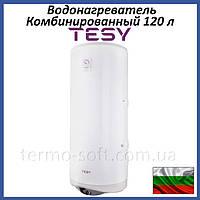 Бойлер 120 литров Tesy Modeco 1,2 кВт. Комбинированный накопительный водонагреватель с сухим ТЕНом