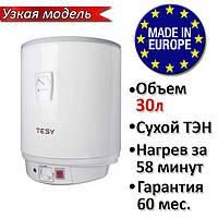 Бойлер 30 литров Tesy Anticalc SLIM GCV 303516D D06 TS2R. Электрический водонагреватель с сухим ТЕНом
