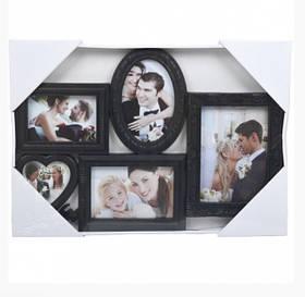 "Фоторамка - колаж ""5 фото"", чорна, Рамка для фотографий ""5 фото"""