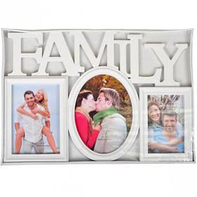 """Фоторамка - колаж """"Сімейна"""", біла, Рамка для фотографий """"Family"""""""