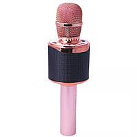 Беспроводной микрофон для караоке T&G K318 Розово-золотой