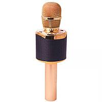Беспроводной микрофон для караоке T&G K318 Золотой