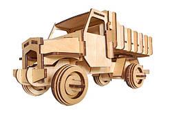 Механический деревянный 3D пазл РЕЗАНОК Грузовой автомобиль 73 элемента