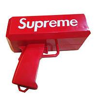 Аксессуар на вечеринки SUPREME MONEY GUN Пистолет для стрельбы деньгами, денежный пистолет, Красный (0312)