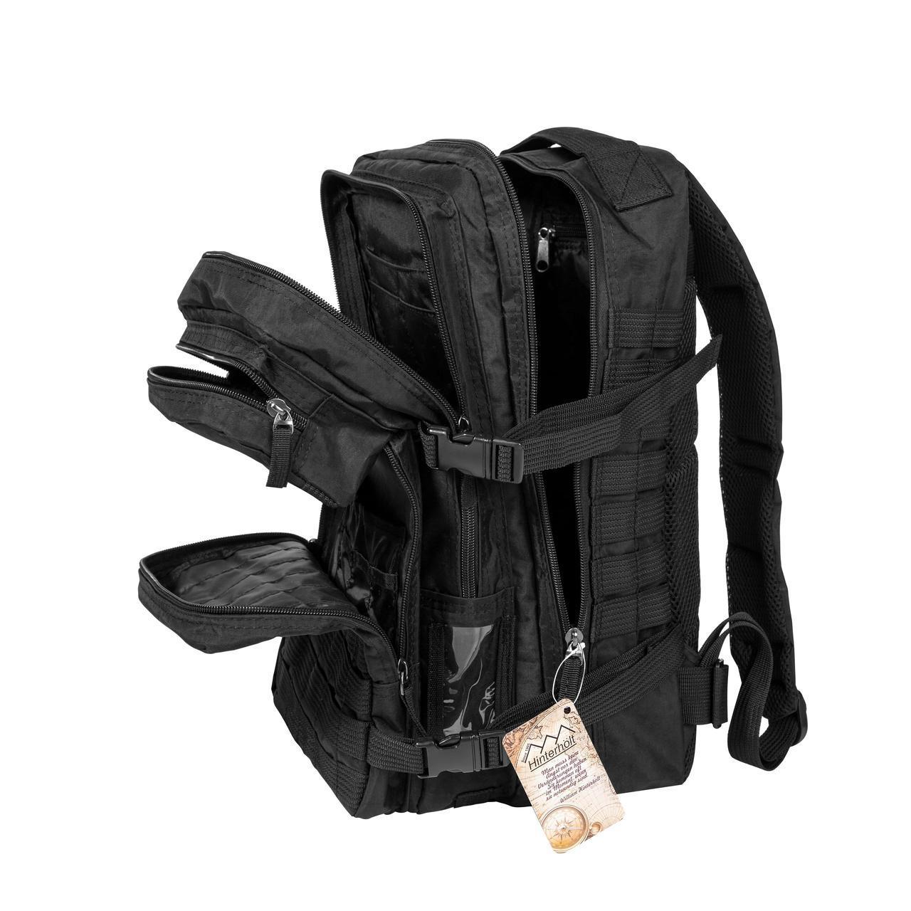 Тактический военный рюкзак Hinterhölt Jäger (Хинтерхёльт Ягер) 32 л Черный