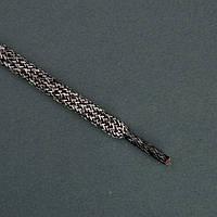Шнурок толстый круглый (6,5 мм) Luxyart 251 меланж серый 100 см, в упаковке 72 пары (PМ17-100.51)