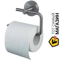 Держатель для туалетной бумаги для туалета - металл - Haceka Kosmos TEC 402414 (1123857) - нержавеющая сталь шуруп