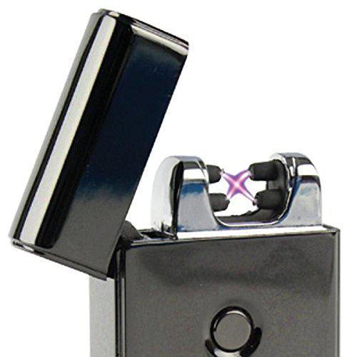 Электроимпульсная зажигалка SUNROZ 307 портативная электронная аккумуляторная USB зажигалка Черный