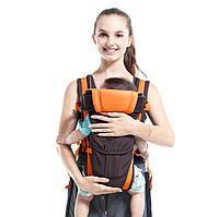 Сумка-кенгуру SUNROZ BP-14 Baby Carrier рюкзак для переноски ребенка Черно-Оранжевый
