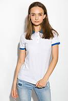 Поло женское 518F004 цвет Молочно-голубой